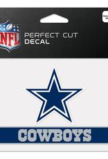"WINCRAFT Dallas Cowboys 4.5"" x 5.75"" Perfect Cut Decals"