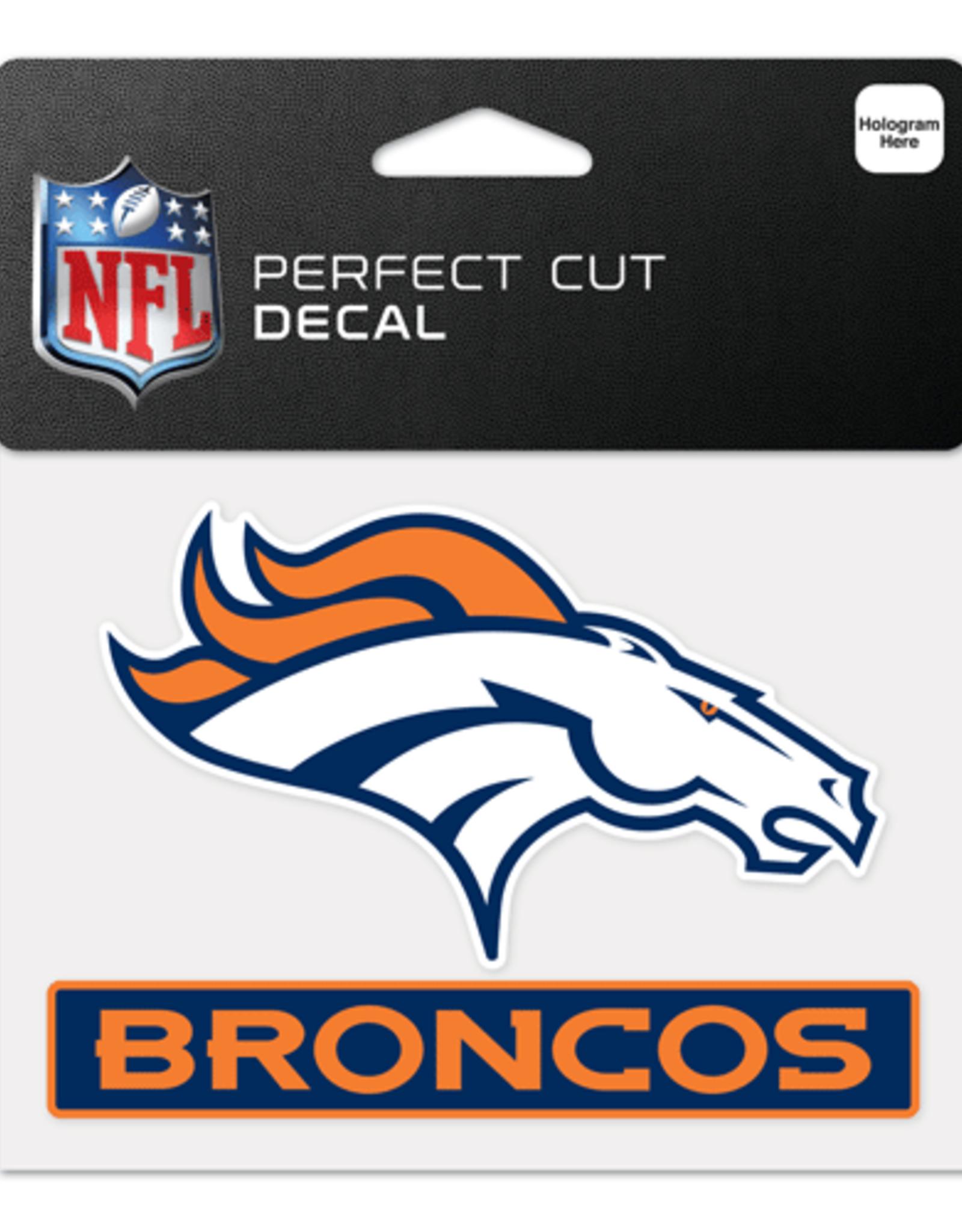 "WINCRAFT Denver Broncos 4.5"" x 5.75"" Perfect Cut Decals"