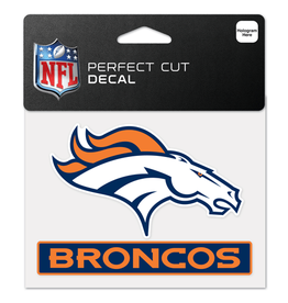 "WINCRAFT Denver Broncos 4.5"" x 5.75"" Perfect Cut Decals"