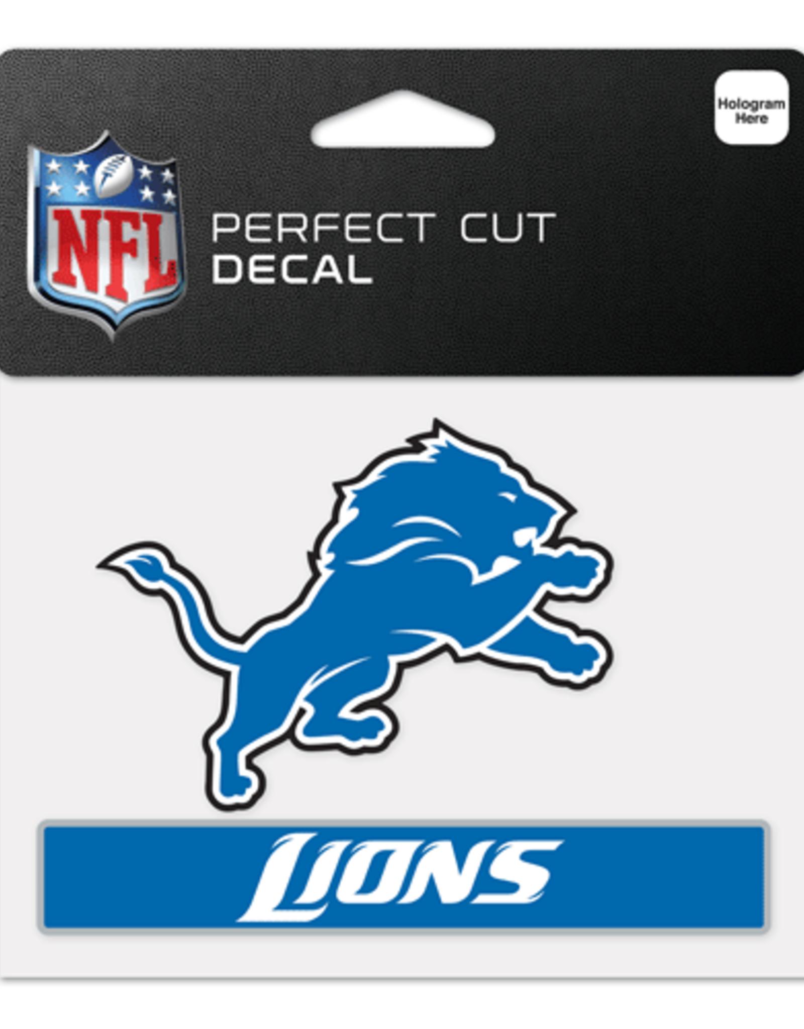 "WINCRAFT Detriot Lions 4.5"" x 5.75"" Perfect Cut Decals"