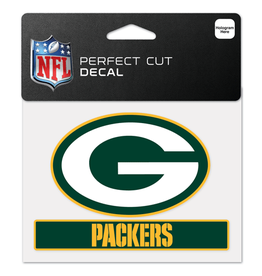"WINCRAFT Green Bay Packers 4.5"" x 5.75"" Perfect Cut Decals"