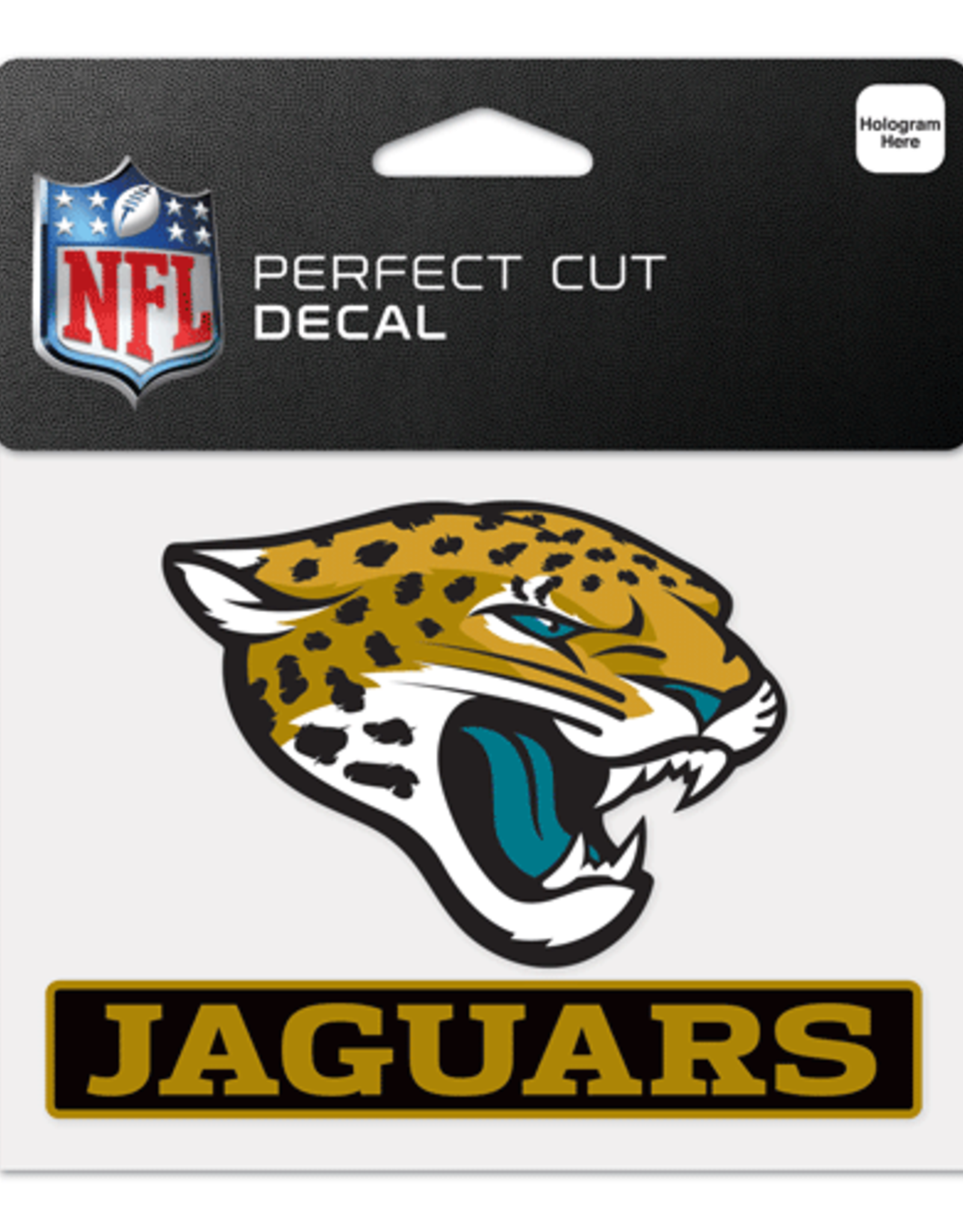"WINCRAFT Jacksonville Jaguars 4.5"" x 5.75"" Perfect Cut Decals"