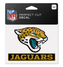 "WINCRAFT Jacksonville Jaguars 4.5"" x 5.75"" Perfect Cut Decals"