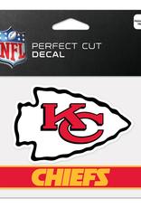 """WINCRAFT Kansas City Chiefs 4.5"""" x 5.75"""" Perfect Cut Decals"""