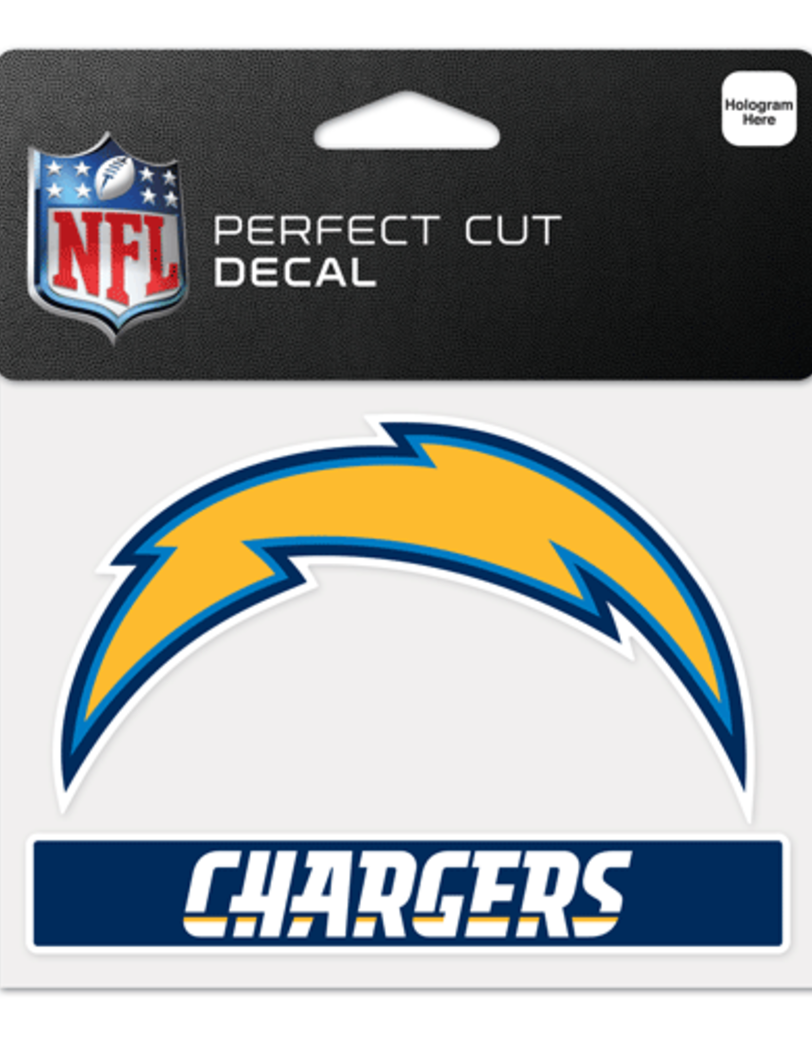 """WINCRAFT Los Angeles Chargers 4.5"""" x 5.75"""" Perfect Cut Decals"""