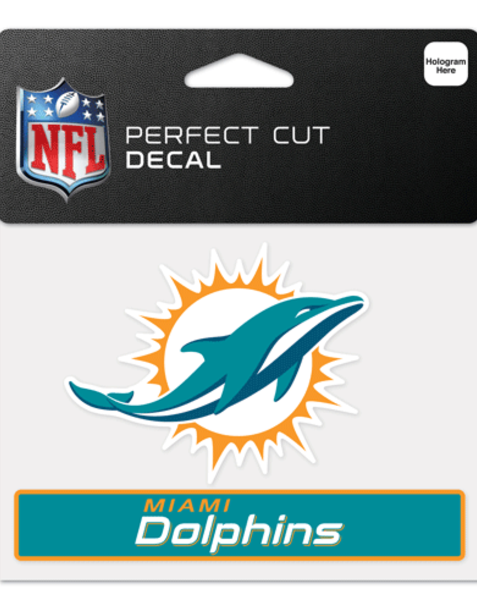 "WINCRAFT Miami Dolphins 4.5"" x 5.75"" Perfect Cut Decals"
