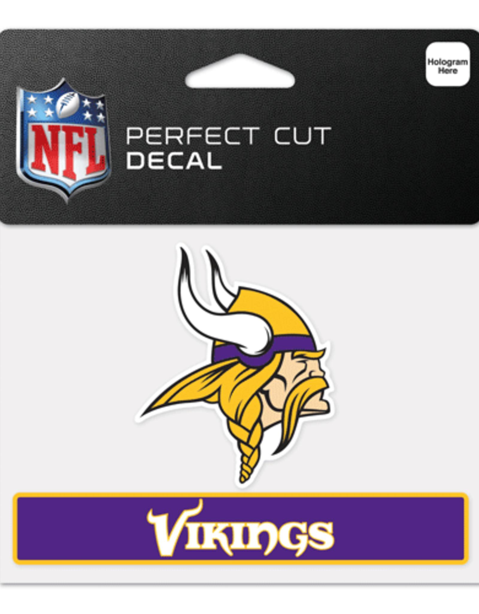 """WINCRAFT Minnesota Vikings 4.5"""" x 5.75"""" Perfect Cut Decals"""