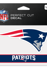 "WINCRAFT New England Patriots 4.5"" x 5.75"" Perfect Cut Decals"