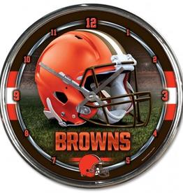 WINCRAFT Cleveland Browns Round Chrome Wall Clock
