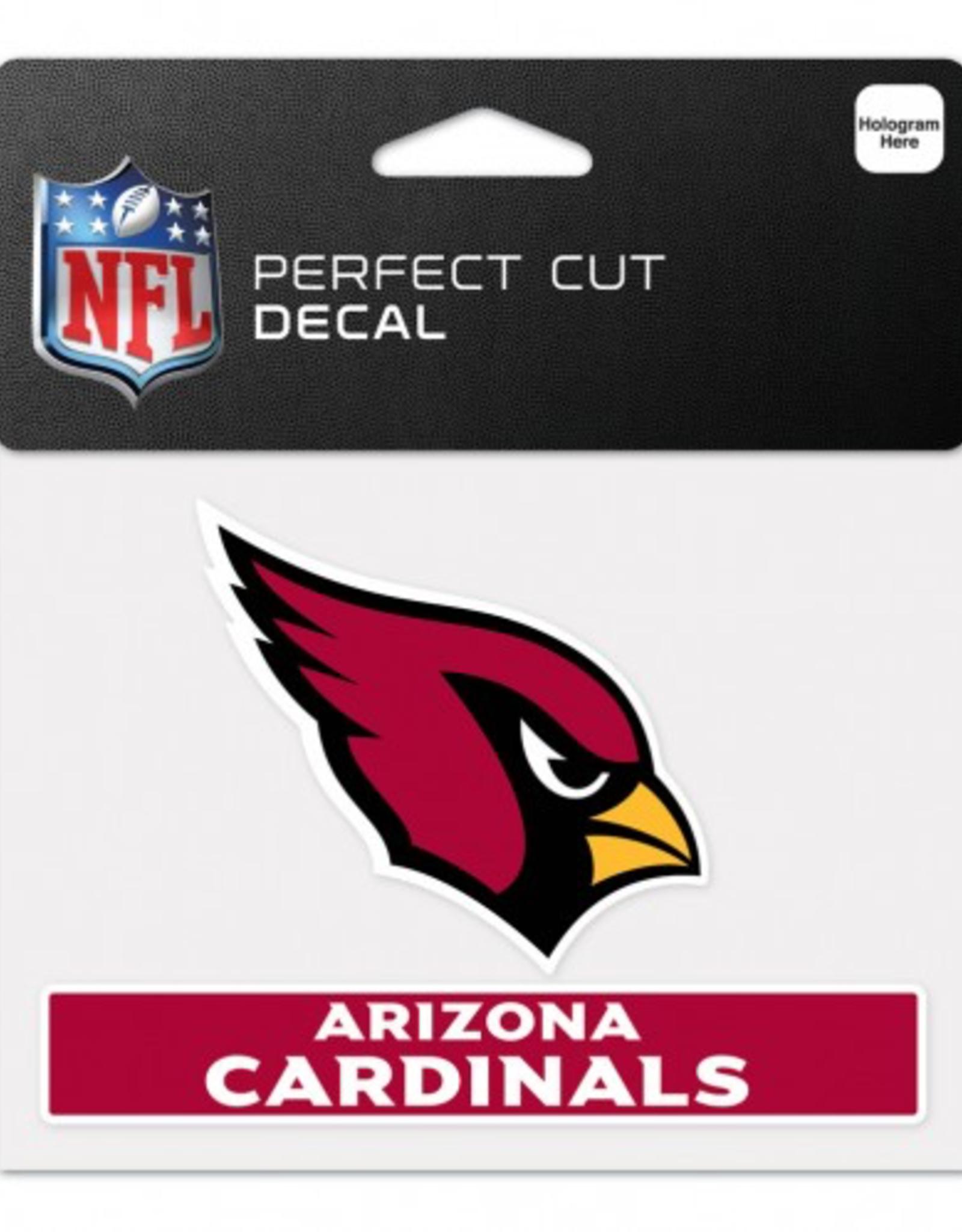 """WINCRAFT Arizona Cardinals 4.5"""" x 5.75"""" Perfect Cut Decals"""