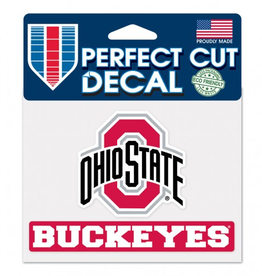 "WINCRAFT Ohio State Buckeyes 4.5"" x 5.75"" Perfect Cut Decals"