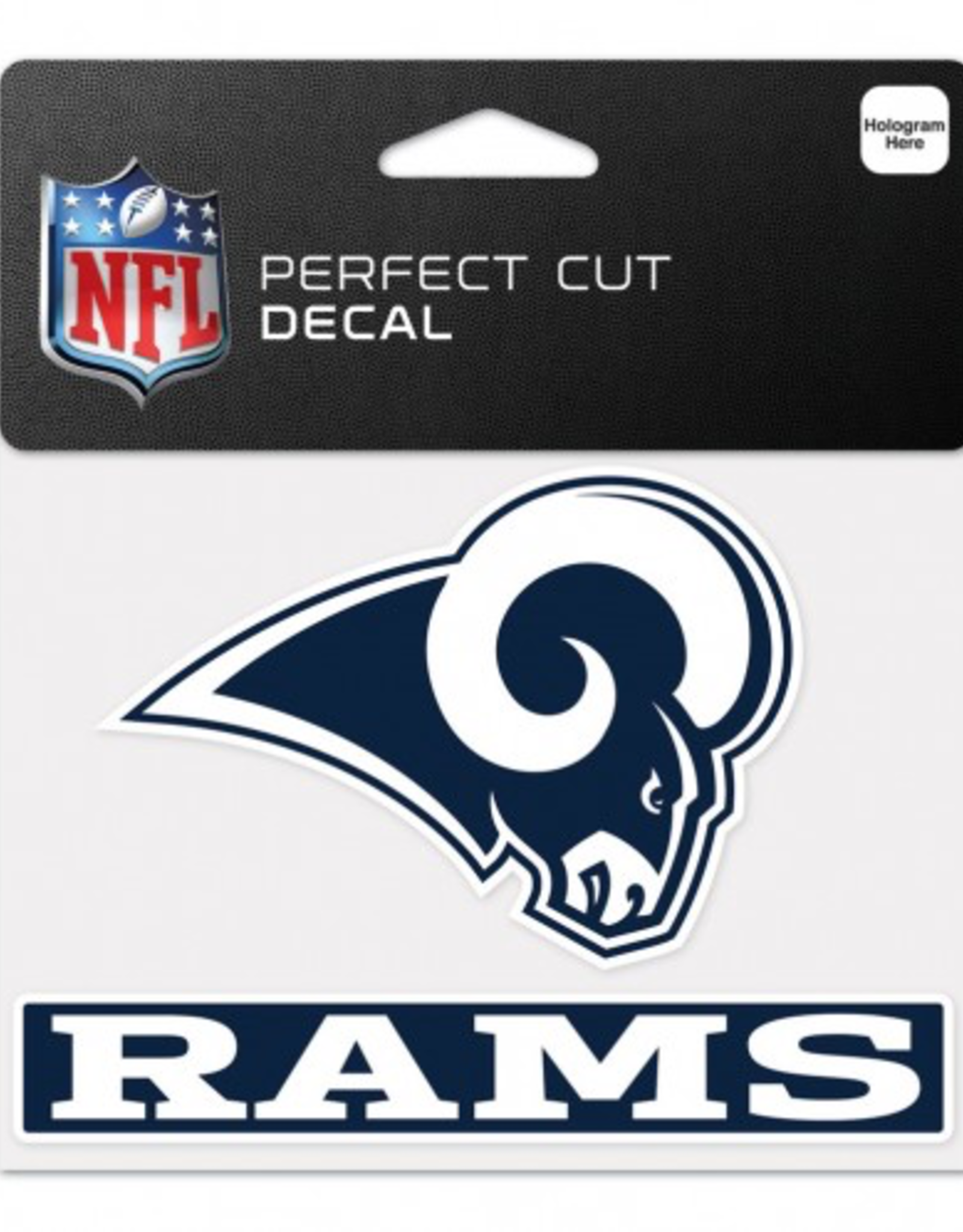 "WINCRAFT Los Angeles Rams 4.5"" x 5.75"" Perfect Cut Decals"