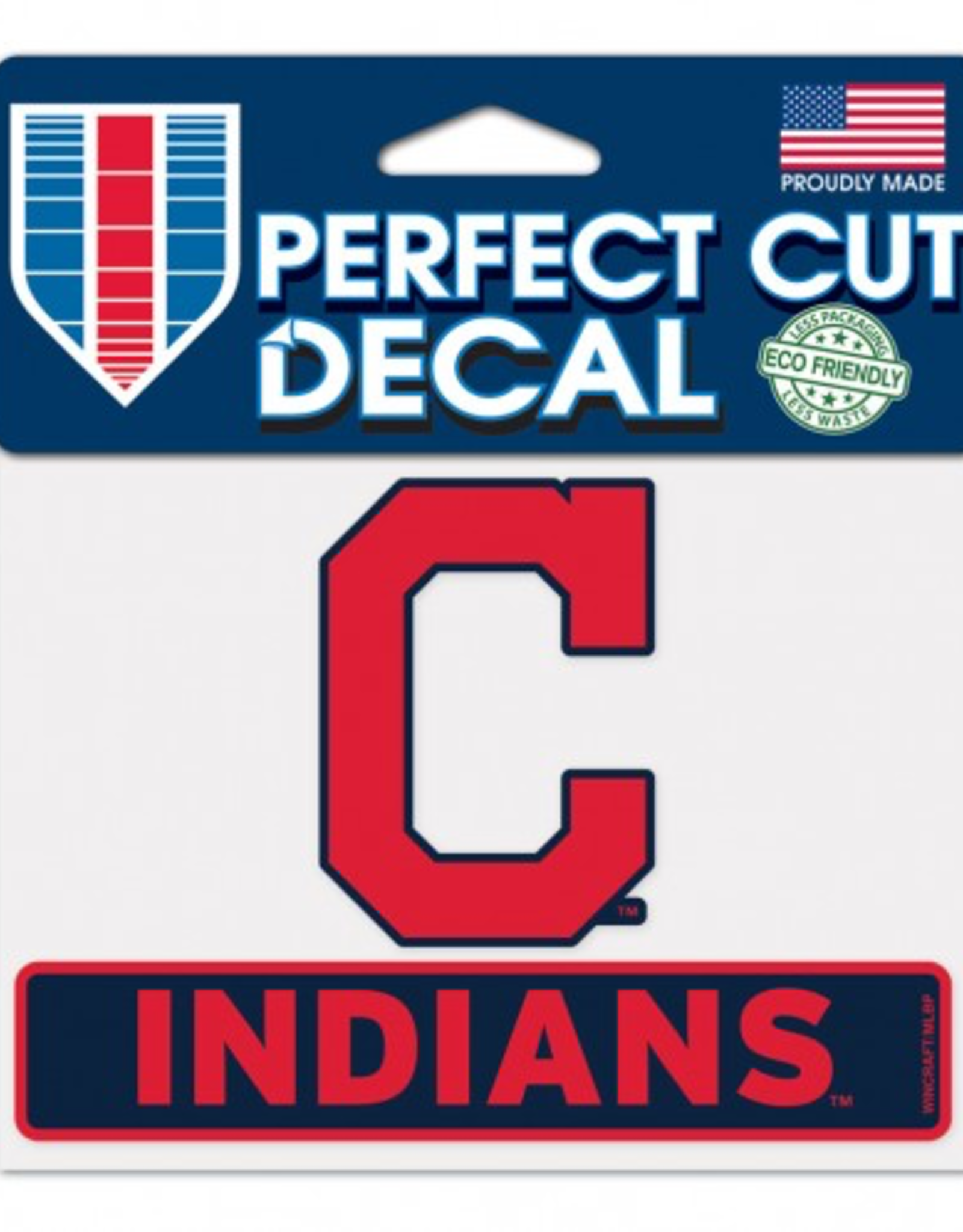 "WINCRAFT Cleveland Indians 4.5"" x 5.75"" Perfect Cut Decals"