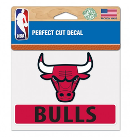 "WINCRAFT Chicago Bulls 4.5"" x 5.75"" Perfect Cut Decals"