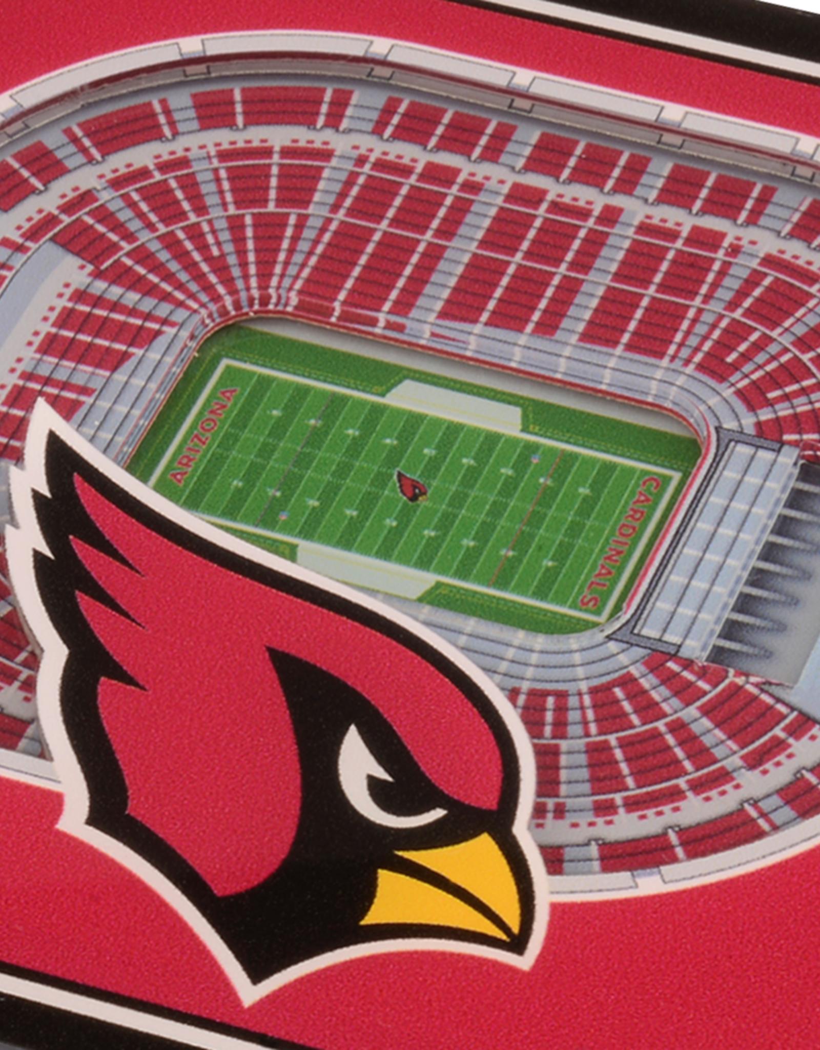 YOU THE FAN Arizona Cardinals 3-D StadiumViews Coasters 2-Pack