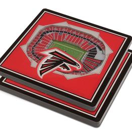 YOU THE FAN Atlanta Falcons 3-D StadiumViews Coasters 2-Pack