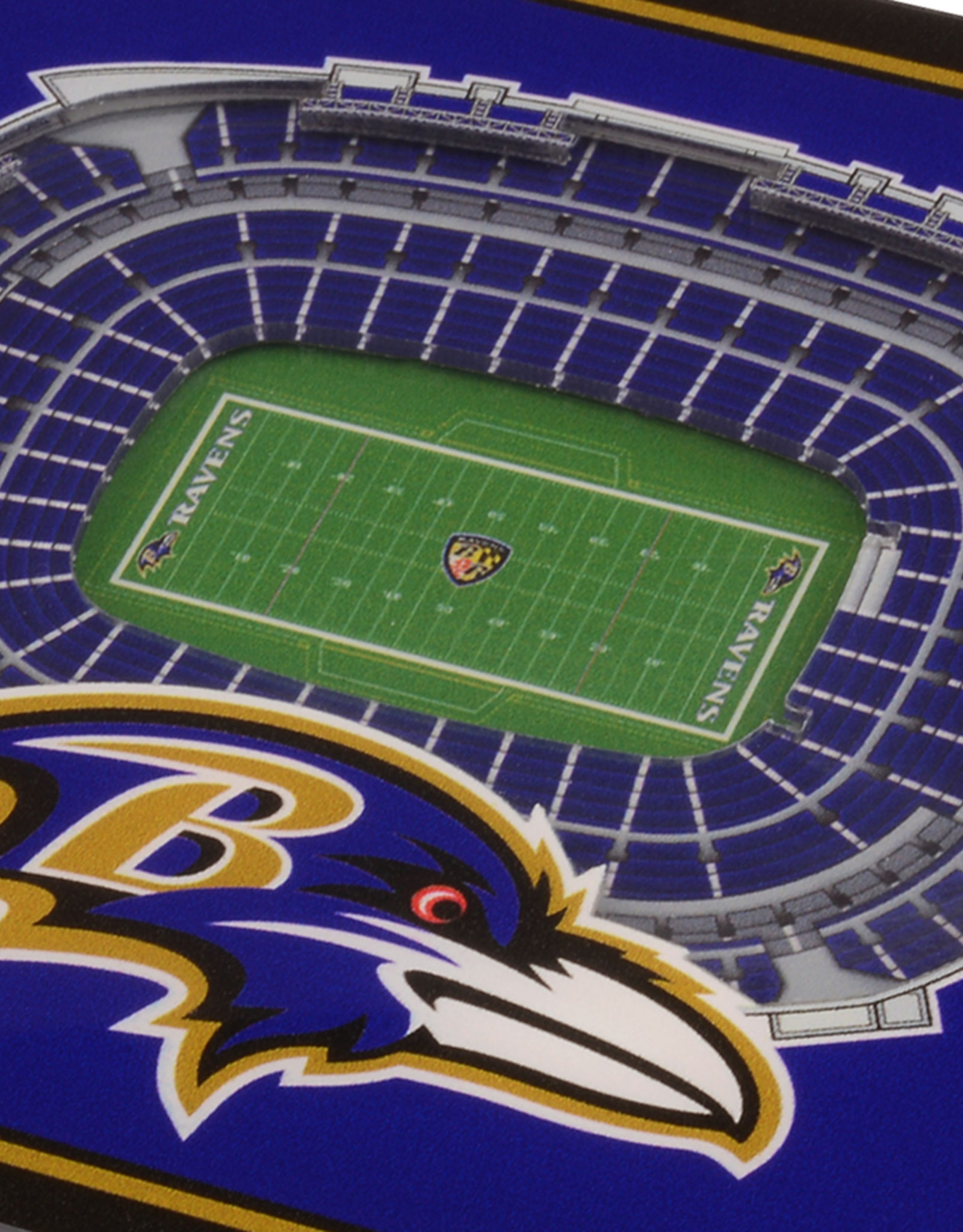YOU THE FAN Baltimore Ravens 3-D StadiumViews Coasters 2-Pack