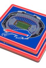 YOU THE FAN Buffalo Bills 3-D StadiumViews Coasters 2-Pack