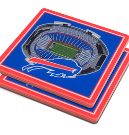 YOU THE FAN Buffalo Bills 3-D StadiumViews Coasters 2-Pack