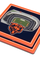 YOU THE FAN Chicago Bears 3-D StadiumViews Coasters 2-Pack