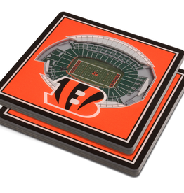 YOU THE FAN Cincinnati Bengals 3-D StadiumViews Coasters 2-Pack