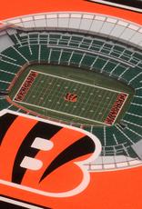 YOU THE FAN Cincinnati Bengals 3-D StadiumViews Coasters 2-Pack