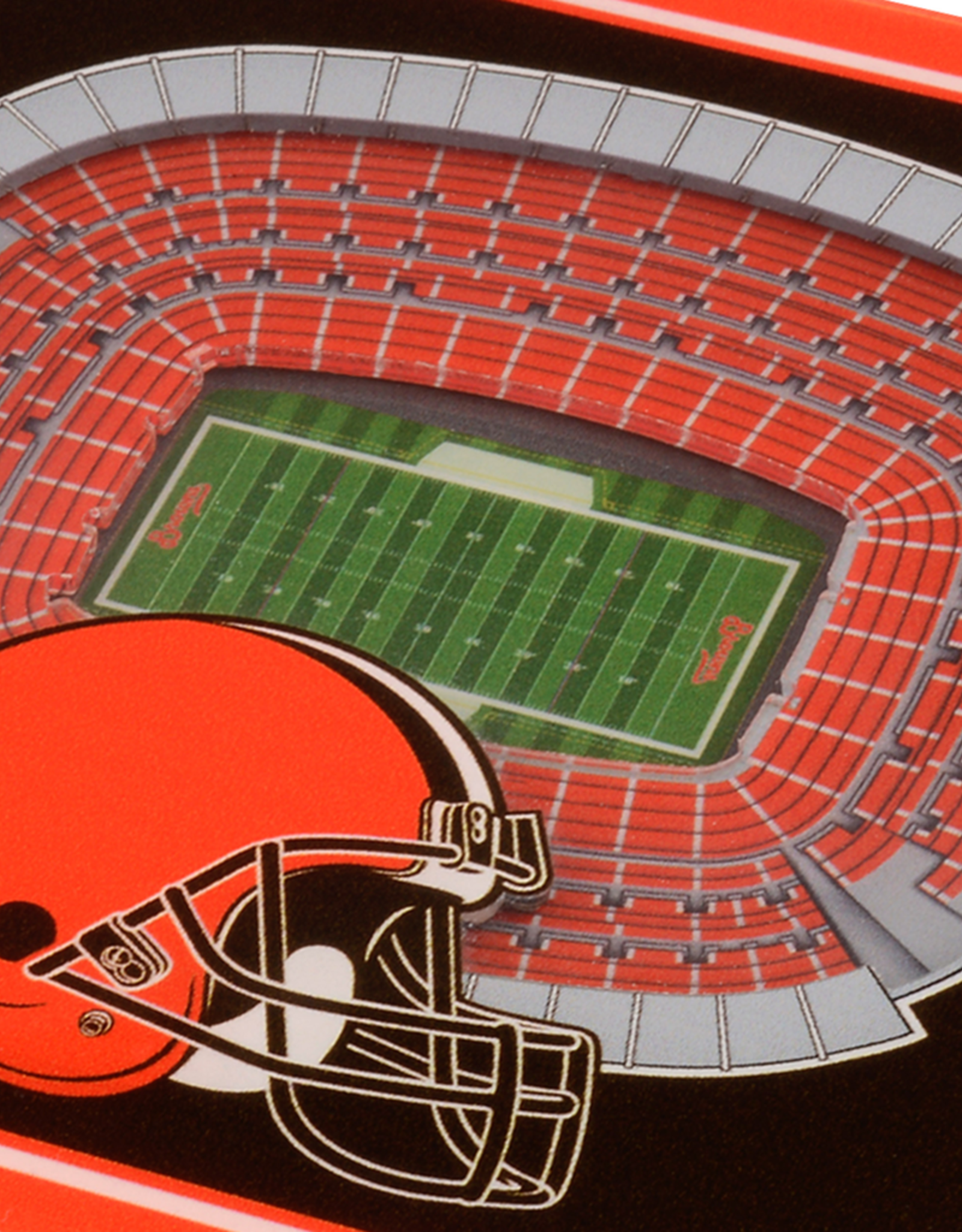 YOU THE FAN Cleveland Browns 3-D StadiumViews Coasters 2-Pack