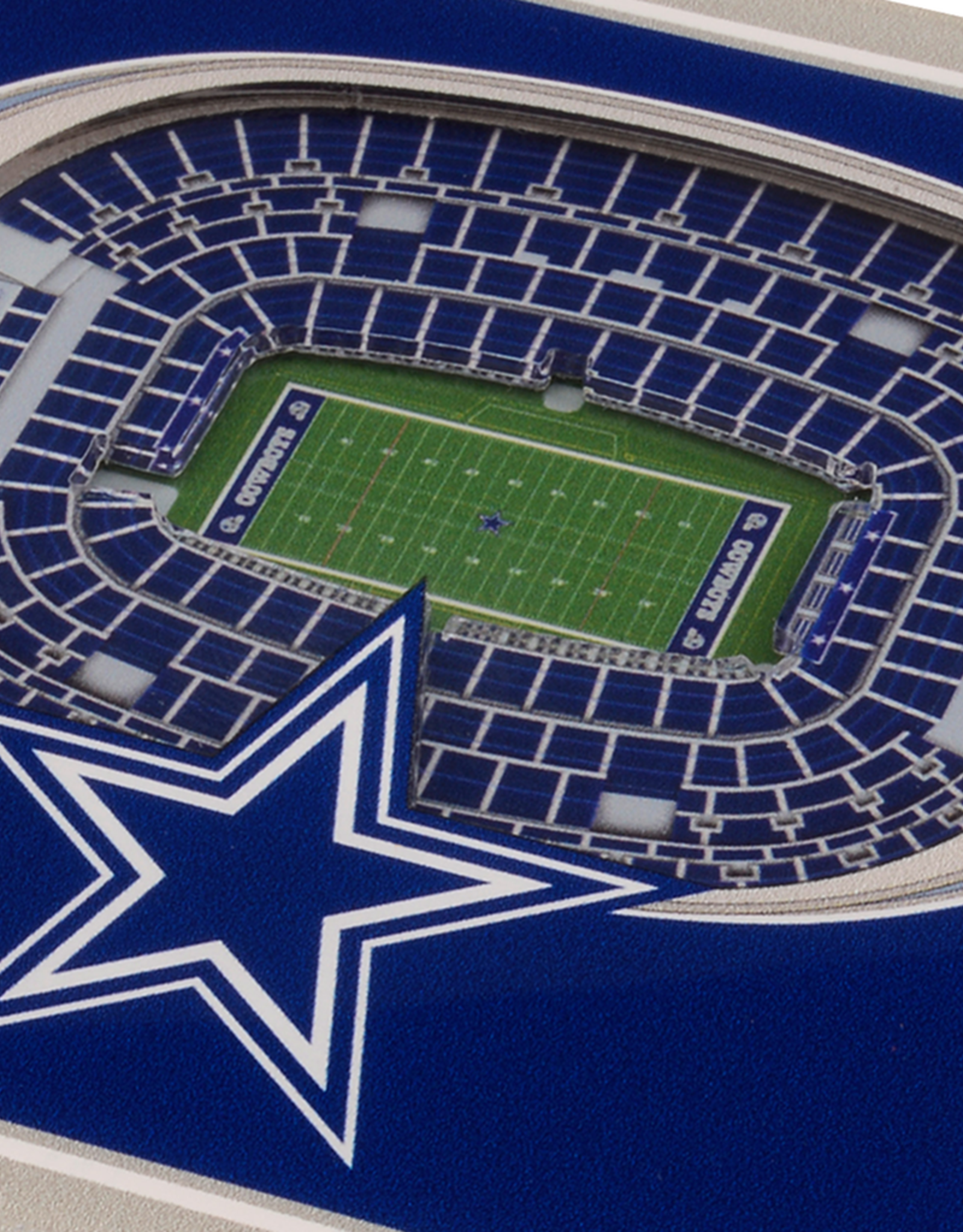 YOU THE FAN Dallas Cowboys 3-D StadiumViews Coasters 2-Pack