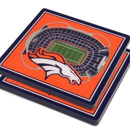 YOU THE FAN Denver Broncos 3-D StadiumViews Coasters 2-Pack