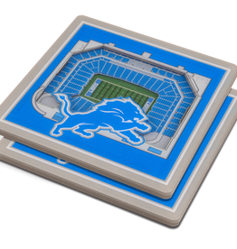 YOU THE FAN Detriot Lions 3-D StadiumViews Coasters 2-Pack