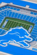 YOU THE FAN Detriot Lions 3-D StadiumViews Coasters 2-Pack