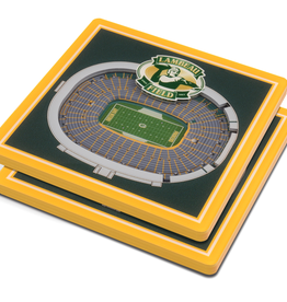 YOU THE FAN Green Bay Packers 3-D StadiumViews Coasters 2-Pack