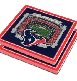 YOU THE FAN Houston Texans 3-D StadiumViews Coasters 2-Pack