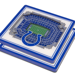 YOU THE FAN Indianapolis Colts 3-D StadiumViews Coasters 2-Pack