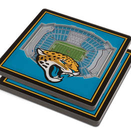 YOU THE FAN Jacksonville Jaguars 3-D StadiumViews Coasters 2-Pack