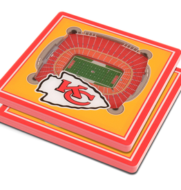 YOU THE FAN Kansas City Chiefs 3-D StadiumViews Coasters 2-Pack