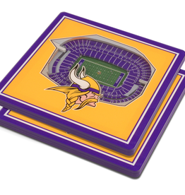 YOU THE FAN Minnesota Vikings 3-D StadiumViews Coasters 2-Pack