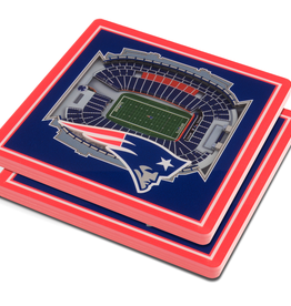 YOU THE FAN New England Patriots 3-D StadiumViews Coasters 2-Pack