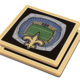 YOU THE FAN New Orleans Saints 3-D StadiumViews Coasters 2-Pack