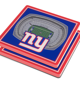 YOU THE FAN New York Giants 3-D StadiumViews Coasters 2-Pack
