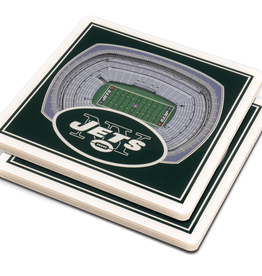 YOU THE FAN New York Jets 3-D StadiumViews Coasters 2-Pack