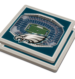 YOU THE FAN Philadelphia Eagles 3-D StadiumViews Coasters 2-Pack