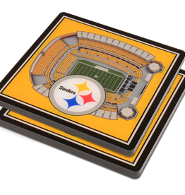 YOU THE FAN Pittsburgh Steelers 3-D StadiumViews Coasters 2-Pack