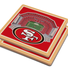 YOU THE FAN San Francisco 49ers 3-D StadiumViews Coasters 2-Pack