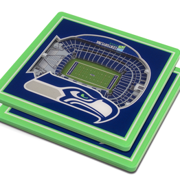 YOU THE FAN Seattle Seahawks 3-D StadiumViews Coasters 2-Pack