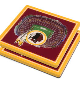 YOU THE FAN Washington Redskins 3-D StadiumViews Coasters 2-Pack