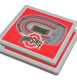 YOU THE FAN Ohio State Buckeyes 3-D StadiumViews Coasters 2-Pack