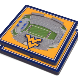 YOU THE FAN West Virginia Mountaineers 3-D StadiumViews Coasters 2-Pack