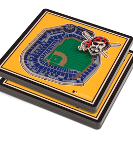YOU THE FAN Pittsburgh Pirates 3-D StadiumViews Coasters 2-Pack