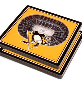 YOU THE FAN Pittsburgh Penguins 3-D StadiumViews Coasters 2-Pack